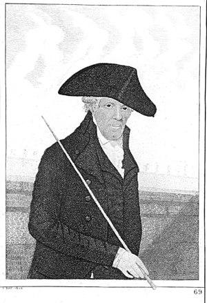 Alexander Wood (surgeon) - Image: Alexander (Lang Sandy) Wood caricatured by John Kay
