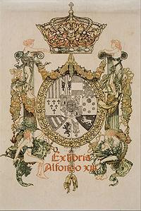 Alexandre de Riquer - Book-plate of Alfons XIII - Google Art Project.jpg