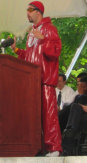 Sacha Baron Cohen - Baron Cohen as Ali G, offering a speech at Harvard University's Class Day during Commencement ceremonies