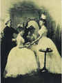Alix and Ella of Hesse preparing for the ball (1889).png