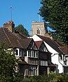 All Saints Benhilton from a distance, SUTTON, Surrey, Greater London - Flickr - tonymonblat.jpg