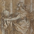 Allegory in Honor of Cardinal Antonio Barberini the Younger (1607-1671) (Design for an Engraving) MET DP144121.jpg