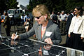 Allison Hamilton signs the solar panel (6093384744).jpg