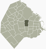 Location of Almagro within Buenos Aires