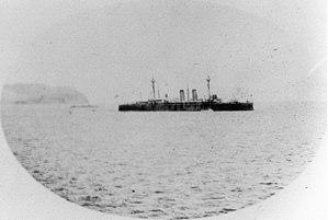 Spanish cruiser Almirante Oquendo - Almirante Oquendo at São Vicente in the latter half of April 1898.