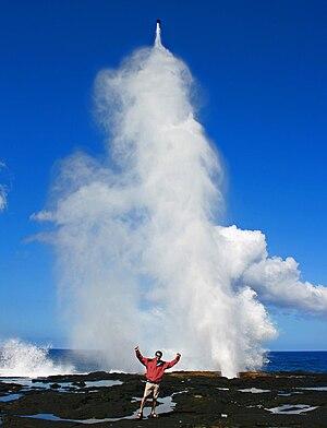 Blowhole (geology) - Image: Alofa'aga Blowholes Savai'i