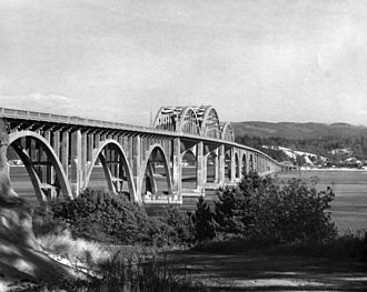Alsea Bay Bridge - The original Alsea Bay Bridge