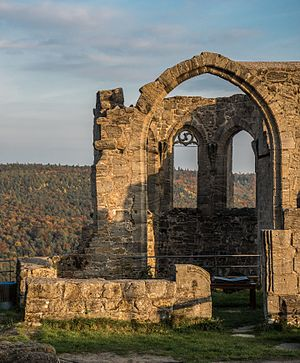 Remains of the chapel of Altenstein ruin