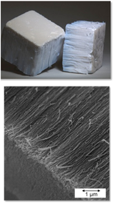 Industrially obtained alumina nano fibers of Nafen brand