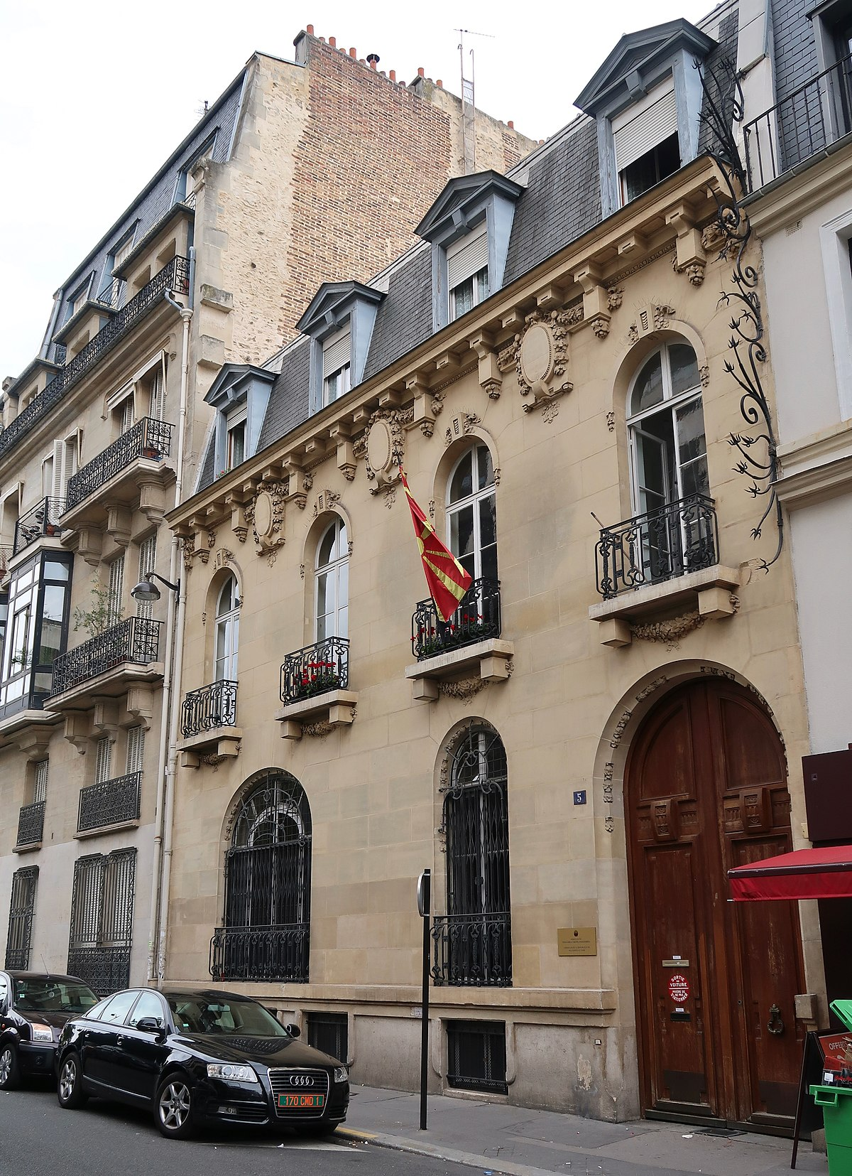 Ambassade de Macédoine du Nord en France — Wikipédia