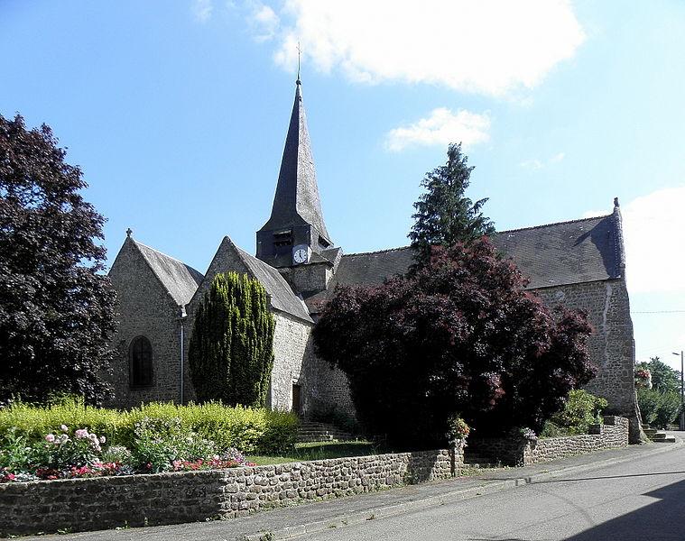 Église Saint-Martin de Cigné, commune d'Ambrières-les-Vallées (53).