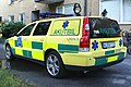 Ambulance fly-car volvo v70 back.jpg