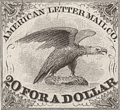 The American Letter Mail Company stamp of 1844