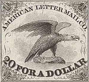American Letter Mail Company - Image: American Letter Mail Stamp