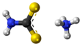 Ammonium dithiocarbamate 3D ball.png