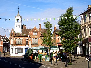 Ampthill town in Central Bedfordshire, Bedfordshire, UK