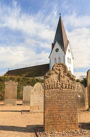 Talking Gravestones of Amrum - Talking Gravestones at St. Clemens Church, in Nebel on Amrum Island, Germany