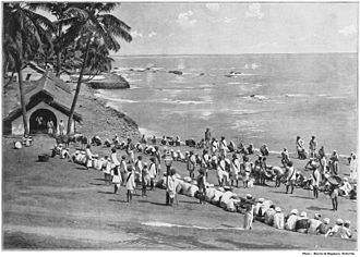 Penal colony - Penal colony in the Andaman Islands (c. 1895)