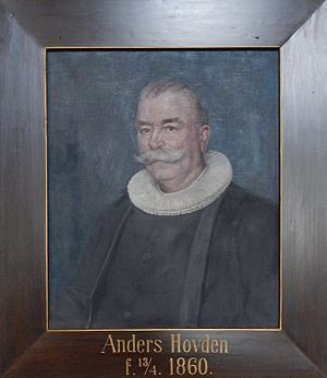 Anders Hovden - Portrait of Anders Hovden at Hoff Church