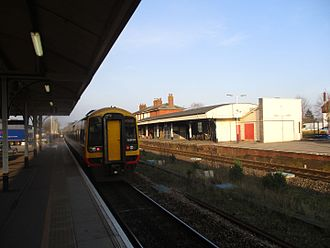 Andover railway station - A train bound for London Waterloo in 2017