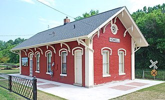 National Register of Historic Places listings in Livingston County, Michigan - Image: Ann Arbor Depot Howell MI