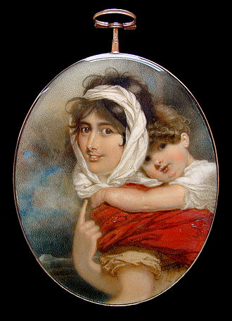 Anne Becher and William Makepeace Thackeray by George Chinnery, c. 1813 Ann & Wm M'peace Thackeray,Madras age 2 by Chinnery.jpg