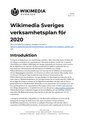 Annual plan for 2020 for Wikimedia Sverige (Swedish).pdf