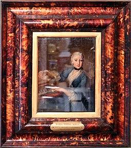 Anonimo, ritratto della compositrice e clavicembalista maria teresa agnesi