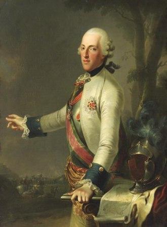 Albert Casimir, Duke of Teschen - Image: Anonym Albert von Sachsen Teschen