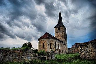 Cricău - Image: Ansamblul bisericii reformate fortificate Cricau
