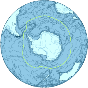 Subantarctic -  The Antarctica region and its boundary, the Antarctic Convergence.