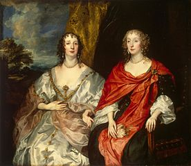 Portrait of Ladies-in-Waiting to Queen Henrietta Maria: Anne Killigrew, Mrs George Kirke and Charlotte, Lady Strange (countess of Derby ?)