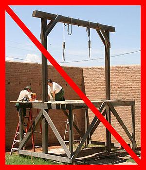 {{nl|Tegen de doodstraf zijn we bijna allemaal...