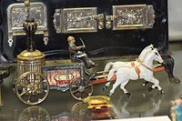 Antique toy fire wagon drawn by horses (25625814262).jpg