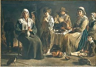 Le Nain - Peasant Family in an Interior, Louvre
