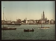 Antwerp, Belgium, from the left bank of the Scheldt (ca. 1890-1900)