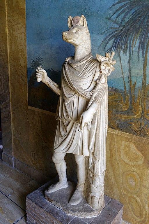 Anubis, Anzio, Villa Pamphili, 1st-2nd century AD, Pario marble - Museo Gregoriano Egizio - Vatican Museums - DSC00818