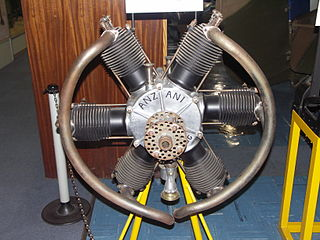 Anzani 6-cylinder 1910s French piston aircraft engine
