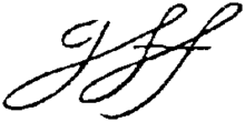 Appletons' Fox George signature.png