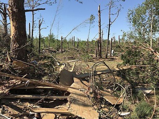 April 13, 2020, Livingston, South Carolina EF3 tornado damage