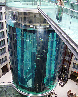 AquaDom aquarium in Berlin, Germany