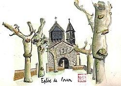 Aquarelle de l'église de Ponson.jpg