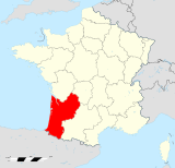 Aquitaine region locator map.svg