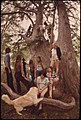 Area Young People Gather in the Cedar Woods by the Frio Canyon River near Leakey, Texas, and San Antonio, 05-1973 (3704384706).jpg