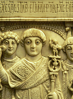 Areobindus Dagalaiphus Areobindus - Areobindus in his consular robes, from his ivory consular diptych.