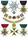 Aristide Michel Perrot - Collection historique des ordres de chevalerie civils et militaires (1820) pl. II.jpg