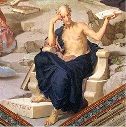 Aristote sur une fresque murale à Rome