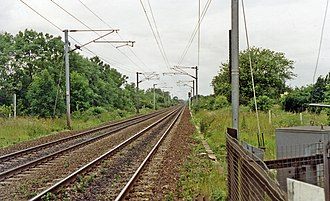 Arksey railway station - Site of the former station in 1992