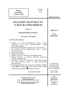 polski matura 2021 arkusz