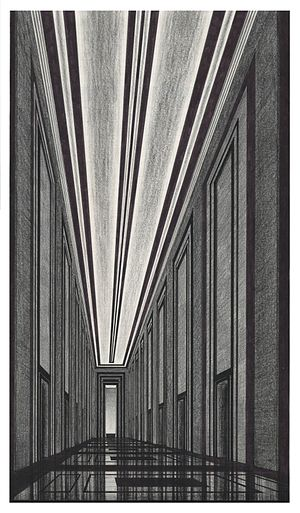 Arnaldo dell'Ira - Hall for the department of communications, 1932